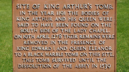 King Arthur's tomb