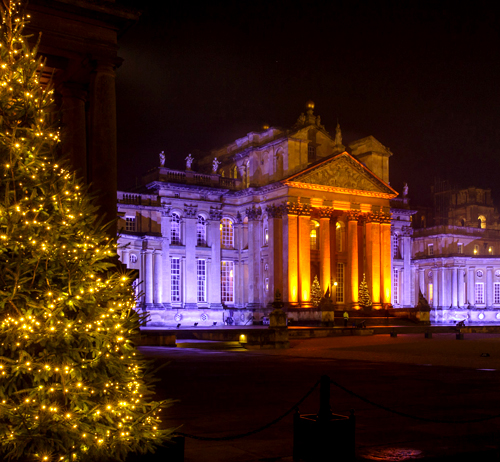 Blenheim Palace - Christmas Lights Courtyard